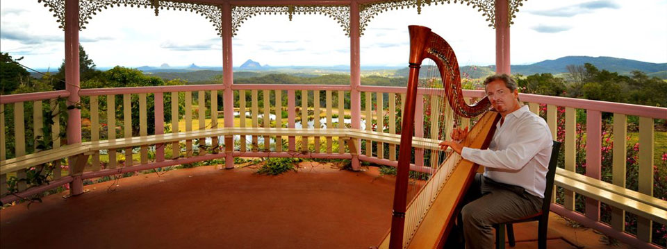 harpist weddings events montville, sunshine coast, qld